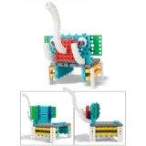 14885502-4 in 1 Dier veranderde Blokken van het Stuk speelgoed DIY van de Uitrusting van het Blok de Onderwijs Creatieve Geplaatst 47PCS (de Struisvogel van de Giraf van de Krab van de Olifant)