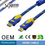 Câble du Mâle-Mâle 1.4V HDMI plaqué par or à grande vitesse de Sipu