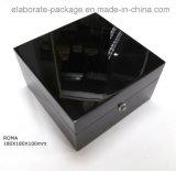 Estilo europeu caixa de relógio superior personalizada da caixa de madeira da classe