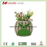 Flowerpots do crânio da resina com mordedura de uma Rosa para os ornamento Home da decoração e do jardim