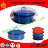 台所用品の炭素鋼の小型エナメルの在庫の鍋