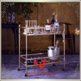 Het Meubilair van het Roestvrij staal van het Karretje van de Kar van de Alcoholische drank van het karretje (RS150504)