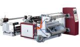 El PLC controla la máquina que raja horizontal del papel y de la película