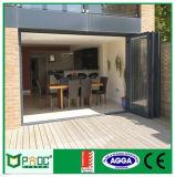 Дверь Bifolding безопасности застекляя алюминиевая с австралийским стандартом
