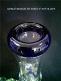 Tubulação de água de fumo curvada equipamento da tubulação de vidro da espiral do reciclador de Perc
