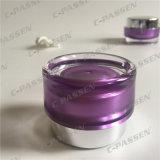 化粧品の包装のための銀製の帽子が付いている15g 30gの紫色のアクリルのクリーム色の瓶(PPC-ACJ-102)