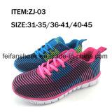 El último deporte del ocio de las mujeres calza el zapato ocasional de la zapatilla de deporte (FFZJ112503)