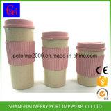 Weizen-Faser-materielle Reis-Hülse-Cup und Becher des freies Beispiel14oz/18oz/21oz mit Silikon-Band