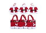La decorazione di natale per il supporto domestico Santa dell'argenteria intasca l'ornamento di natale del Babbo Natale dei supporti della forcella della lama del pranzo