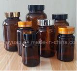 Bernsteinfarbiger Pille-pharmazeutischer medizinischer breiter Mund-Glasflasche 60ml---500ml