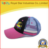 Die 6 Panel-Stickerei-Hysterese Sports Hut-Ineinander greifen-Schutzkappen-Baseballmütze