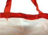 Мешок Tote красного цвета Non сплетенный с подгонянным печатание