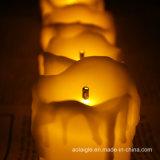 Velas ópticas del vector de fibra LED de la llama que oscilan amarilla