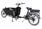 정면 상자 트레일러 모터 자전거