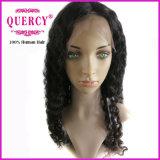 100% natürliche Menschenhaar-Jungfrau-peruanische Haar-volle Spitze-Perücke-tiefe Welle (DWW-038D)