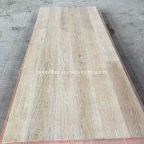 Weißer aufgetragener natürliche Eiche ausgeführter Bauholz-Fußboden