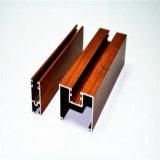 profil en aluminium de la granulation 6063t5 en bois pour le guichet en aluminium et la porte