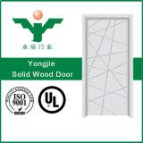 Porte intérieure en bois solide de bonne qualité pour l'appartement ou la villa d'hôtel avec la porte intérieure moderne en bois solide de type