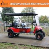6 Seater elektrisches Auto mit angestrichenen Rädern, 4 Seater plus Rückseite 2 Seater Golf-Auto für Verkauf