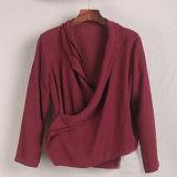 Lino arrugado de la tela de algodón del 55% el Linen+45%