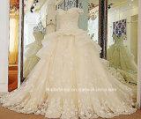 Schutzkappe Sleeves die Brautballkleider, die Organza-Hochzeits-Kleid Tb279 bördeln