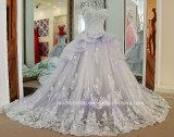 O tampão Sleeves os vestidos de esfera nupciais que perlam o vestido de casamento Tb279 de Organza