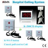 Aprobado CE Sistema llamada zumbador hospital Ycall Marca 433MHz