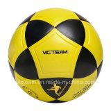 Яркие желтые шарики футбола размера 5 большого части свободно образца