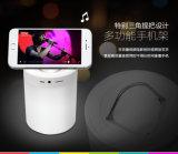 Lumière de nuit avec le haut-parleur de Bluetooth, éclairage LED sans fil portatif de Bluetooth