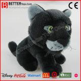 ASTM realistisches angefülltes Tier-weiches schwarzer Panther-Spielzeug