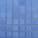 파란 색깔 수영풀 사기그릇 모자이크 타일