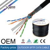 LAN Ethernet UTP CAT6 sipu impermeable al aire libre del cable 23AWG 4p
