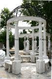 Gazebo di marmo bianco