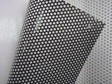 Uso de interior al aire libre material de la visión del PVC del vinilo de la etiqueta engomada del acoplamiento de la impresión solvente perforada de cristal auta-adhesivo unidireccional de Eco Digital