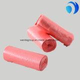 Bolsos planos plásticos del color del claro de la basura del HDPE modificados para requisitos particulares en el rodillo