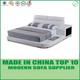 China Bedroom Double Bed met Leather