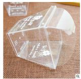 Pet / PP Triangle jetable Transparent Sandwich / Cake Enveloppe / boîte en plastique d'emballage / Emballage