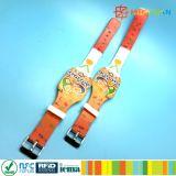 Bracelets classiques réglables d'IDENTIFICATION RF des silicones 1K de l'impression MIFARE de CMYK