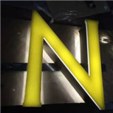 Cartas del acero inoxidable LED con la muestra de acrílico de la publicidad de nombre delantero