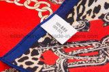 デジタルプリントは女性のための絹のスカーフをカスタム設計する