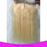 고무 밴드 Blonde 색깔을%s 가진 브라질인 360 레이스 정면 가발