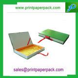 Rectángulo de papel de empaquetado rígido de lujo modificado para requisitos particulares de joyería de la cartulina que graba del regalo de papel del rectángulo