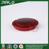 il Facial allentato di lusso di plastica piano rosso del compatto di polvere 2g arrossisce vaso di plastica della polvere del contenitore 2g del fondamento della pressa del contenitore di polvere piccolo