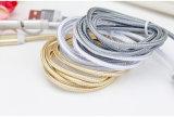 cable cubierto de nylon de los datos y de la transferencia de 5V 2A para el teléfono de Samsung, iPhone