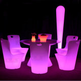 Mobilia illuminata LED esterna lussuosa d'ardore