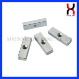 Neodymium Strong Stinered Block Shape Ímã de revestimento de zinco