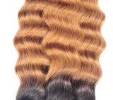 緩く深い波8AブロンドのOmbreのブラジルの毛の織り方3束はOmbreのOmbreの緩い波のブラジルの緩く深い波の毛を束ねる