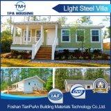 Casa modular durável da casa de campo do projeto moderno de isolação térmica da instalação rápida