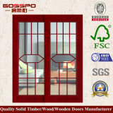 Puerta deslizante de cristal de madera interior del precio barato (GSP3-015)