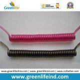 Tether Springcoil стального провода Китая твердый черный пластичный Coated